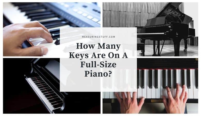 how many keys are on a full size piano?